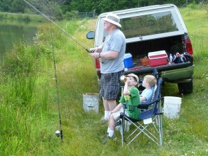 The Tradition Continues: Dad with his grandsons (2011).